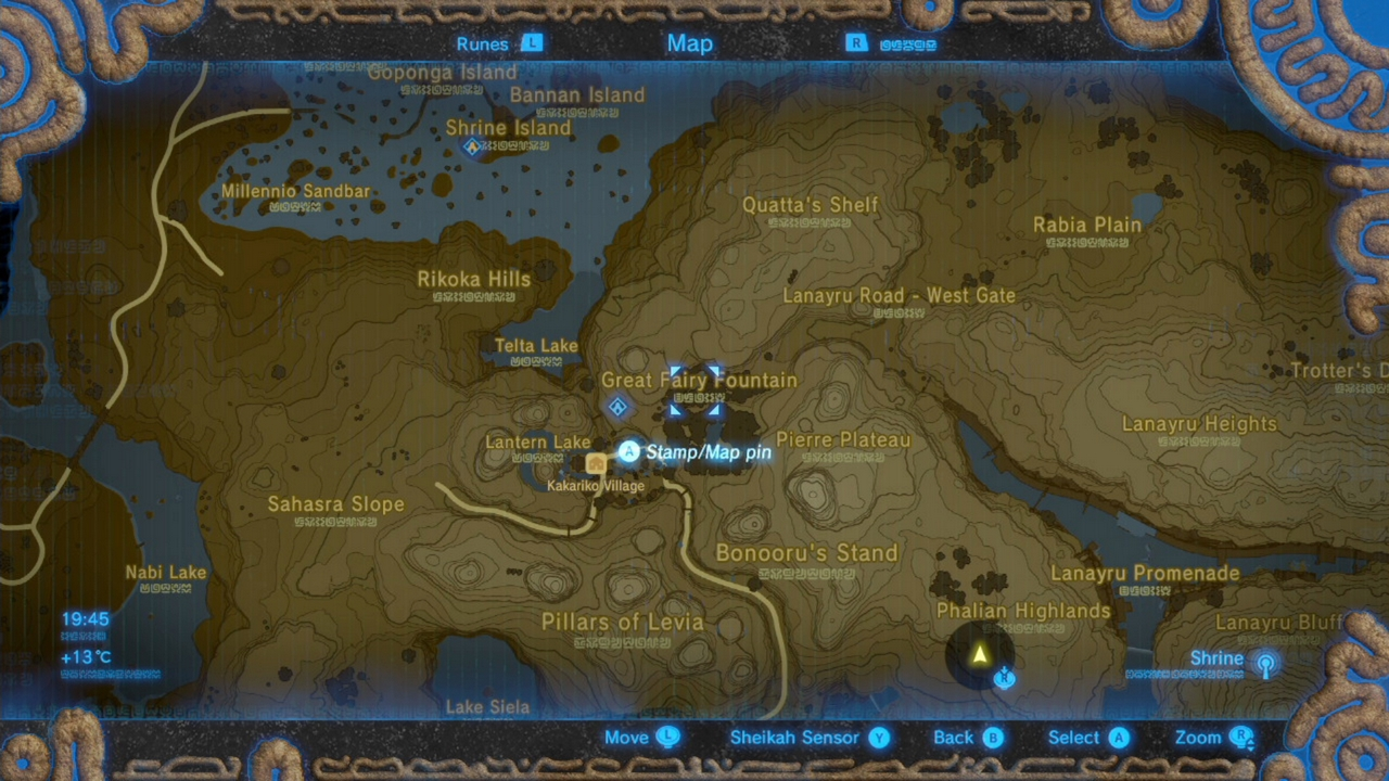 Zelda Breath Of The Wild Guide Great Fairy Fountain Locations And