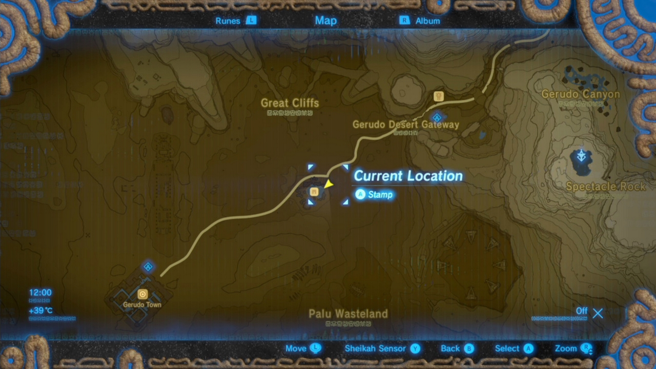 Zelda breath of the wild guide all recovered memory locations this memory is associated with the 4th photo in the sheikah slate its found at the kara kara bazaar look at the gerudo desert on the map and then find gumiabroncs Choice Image