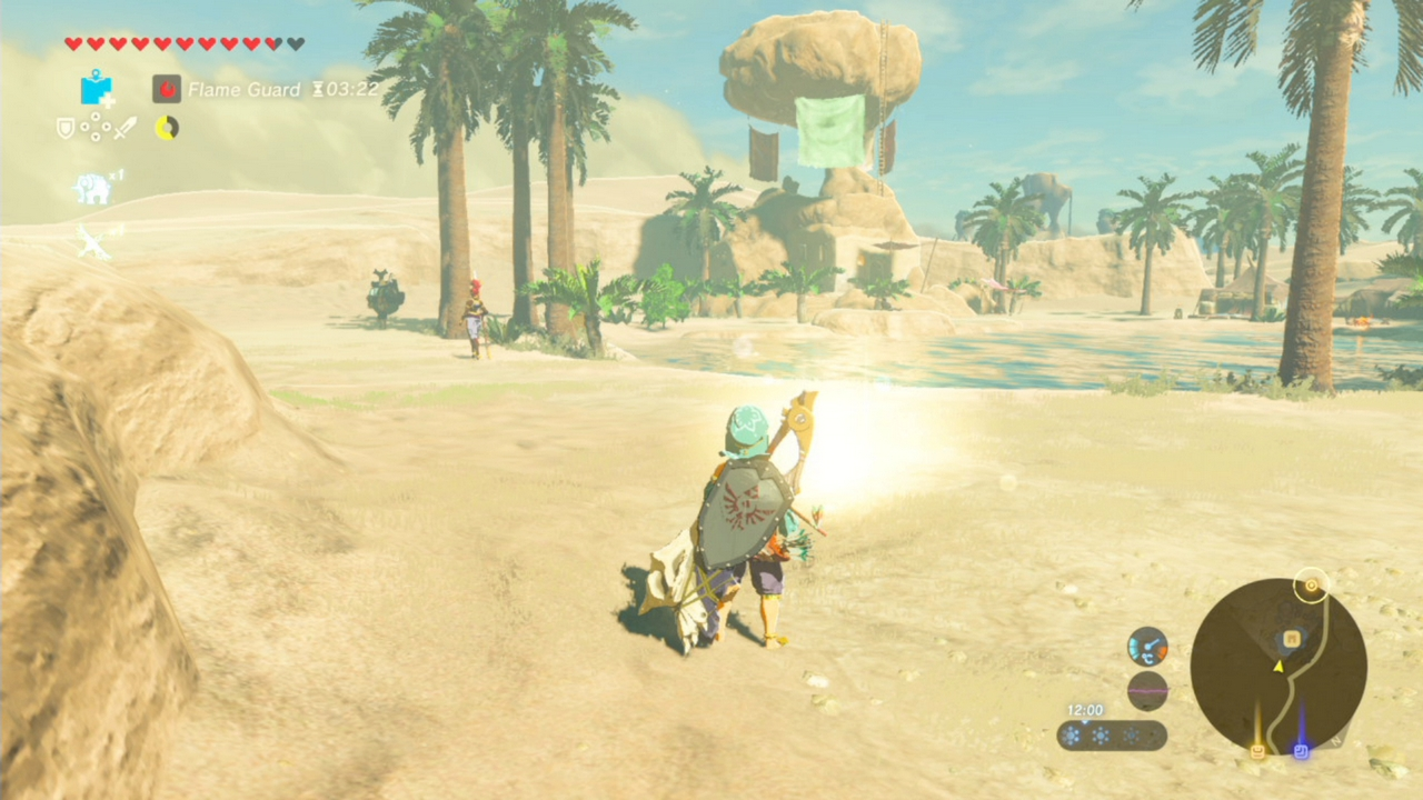 Zelda breath of the wild guide all recovered memory locations this memory is associated with the 4th photo in the sheikah slate its found at the kara kara bazaar look at the gerudo desert on the map and then find sciox Choice Image