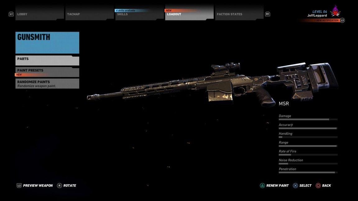 MSR_Sniper_Stats