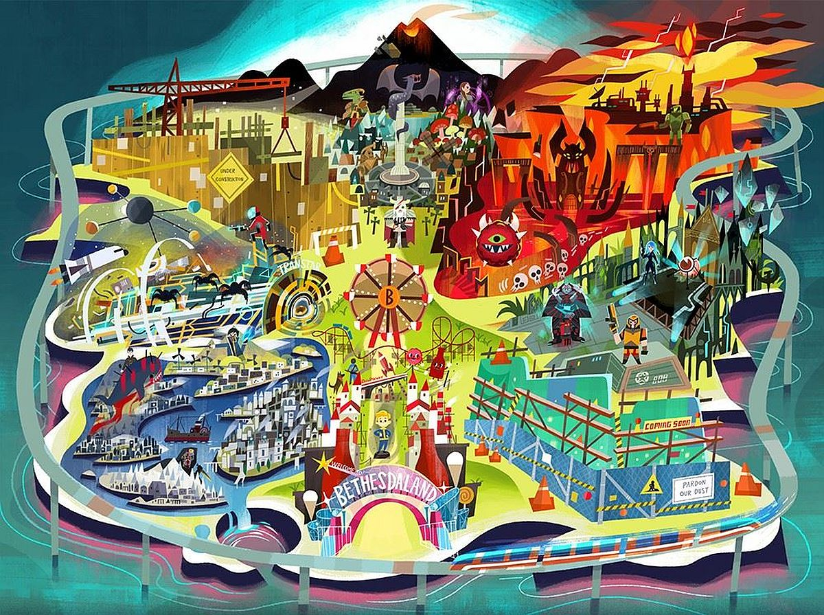 "Bethesda's E3 Invite Features Game-themed Amusement Park With Two Attractions ""coming Soon"""
