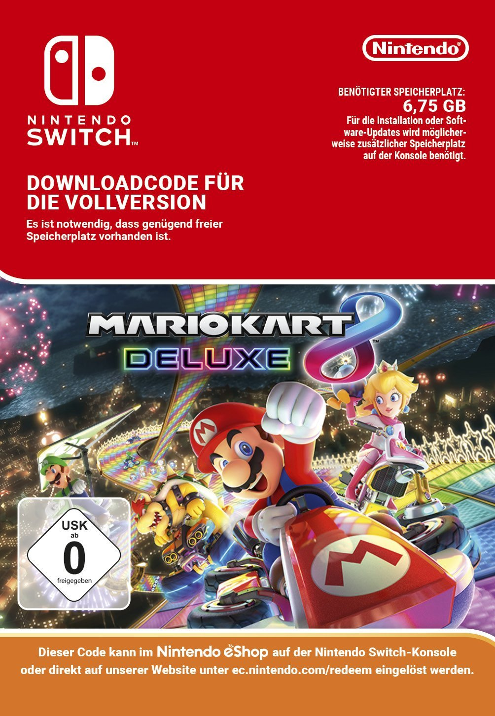 mario kart 8 deluxe amazon germany download size