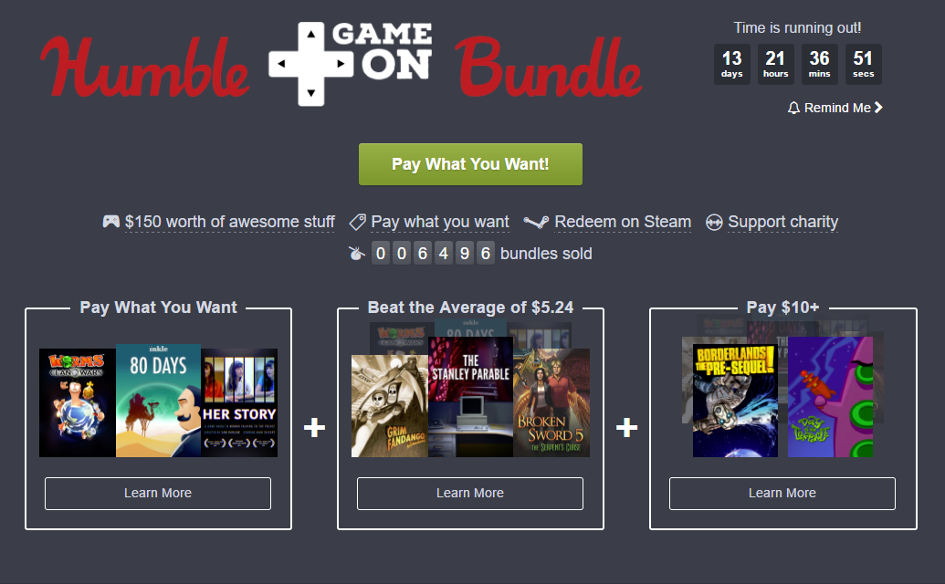 The latest Humble Bundle is full of great stories - VG247