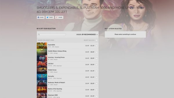 GOG Weekly Sale une 20th
