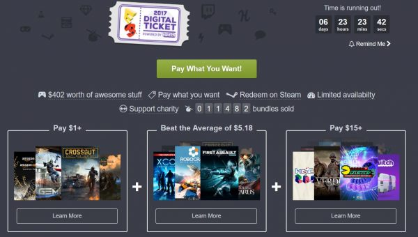 Humble Bundle E3 2017 ticket