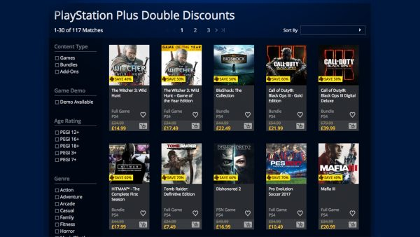 PSN Double Discounts