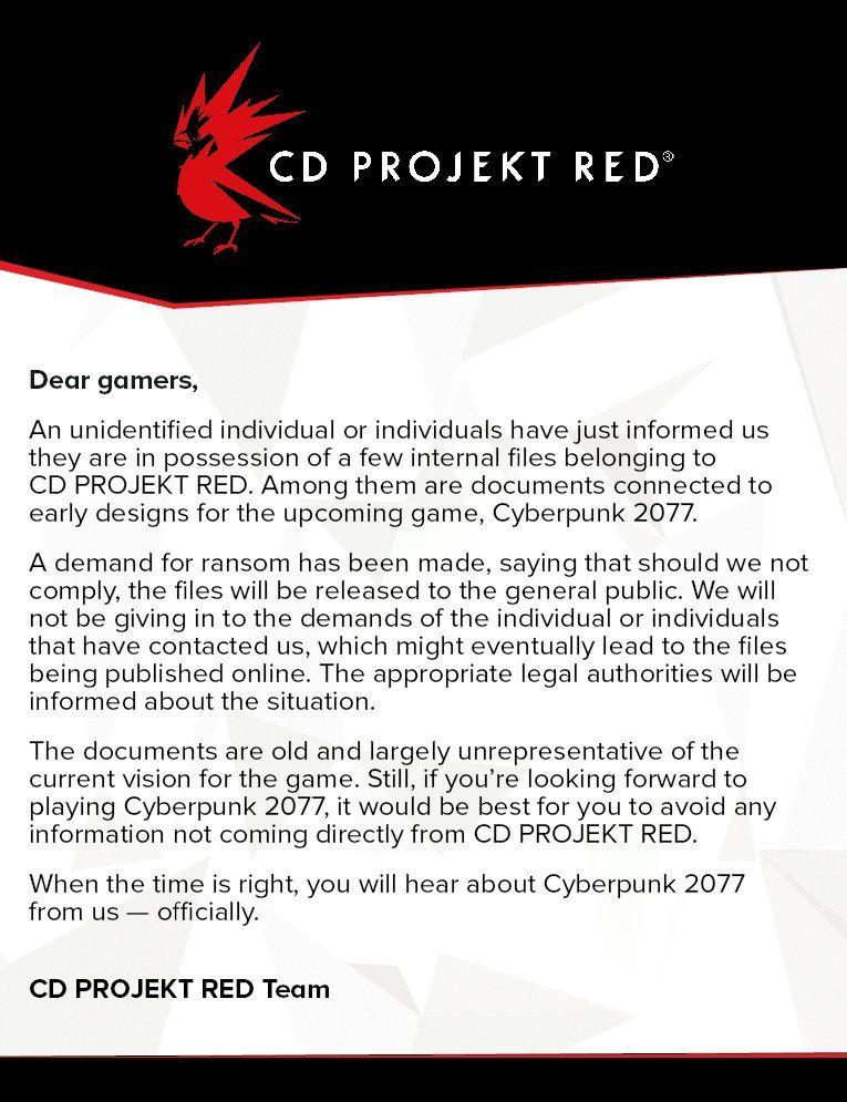 cdp_ransom_statement_cyberpunk_2077