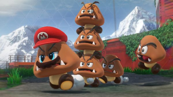 Super Mario Odyssey co-op multiplayer has second player controlling Mario's cap Cappy