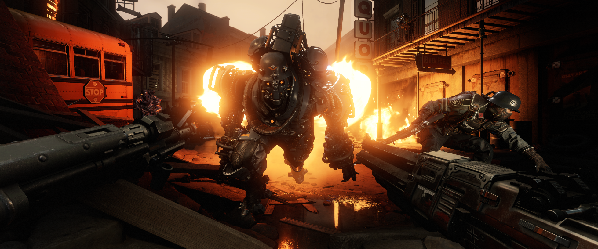 If the 8 minute Wolfenstein 2: The New Colossus announce trailer was too much for you, here's a new, shorter cut