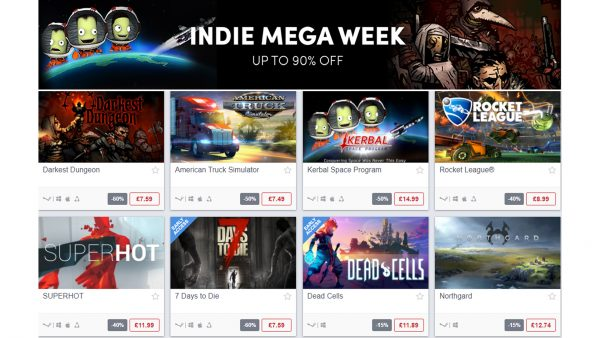 Indie Mega Week Sale Humble Bundle