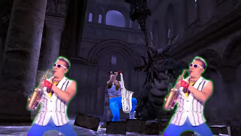 this dark souls mod replaces the player model with epic sax guy vg247