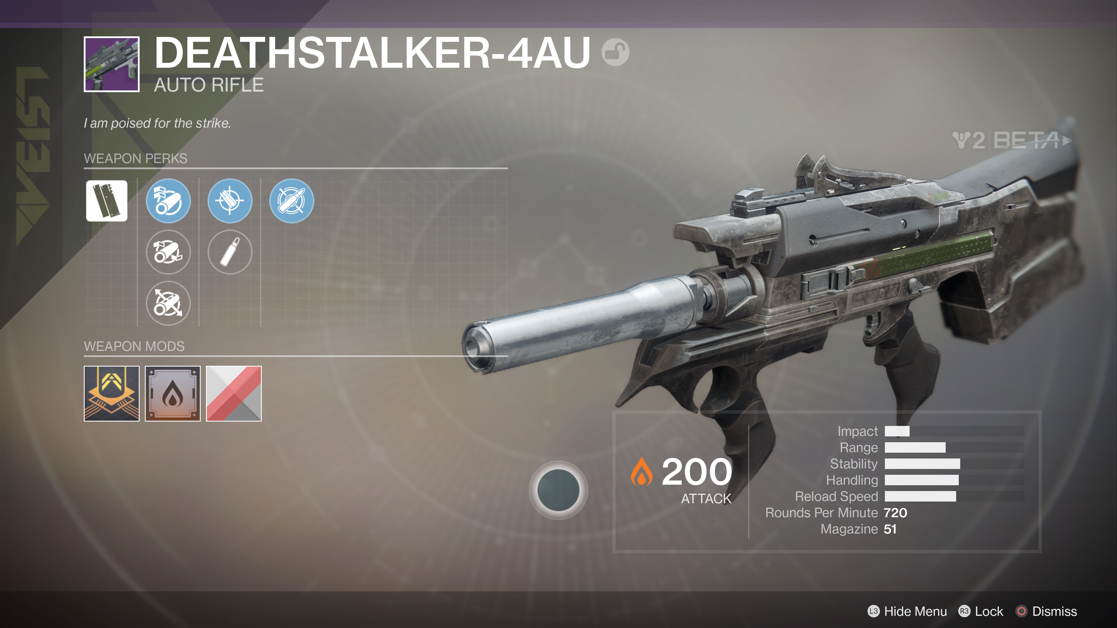 destiny 2 beta deathstalker 4AU