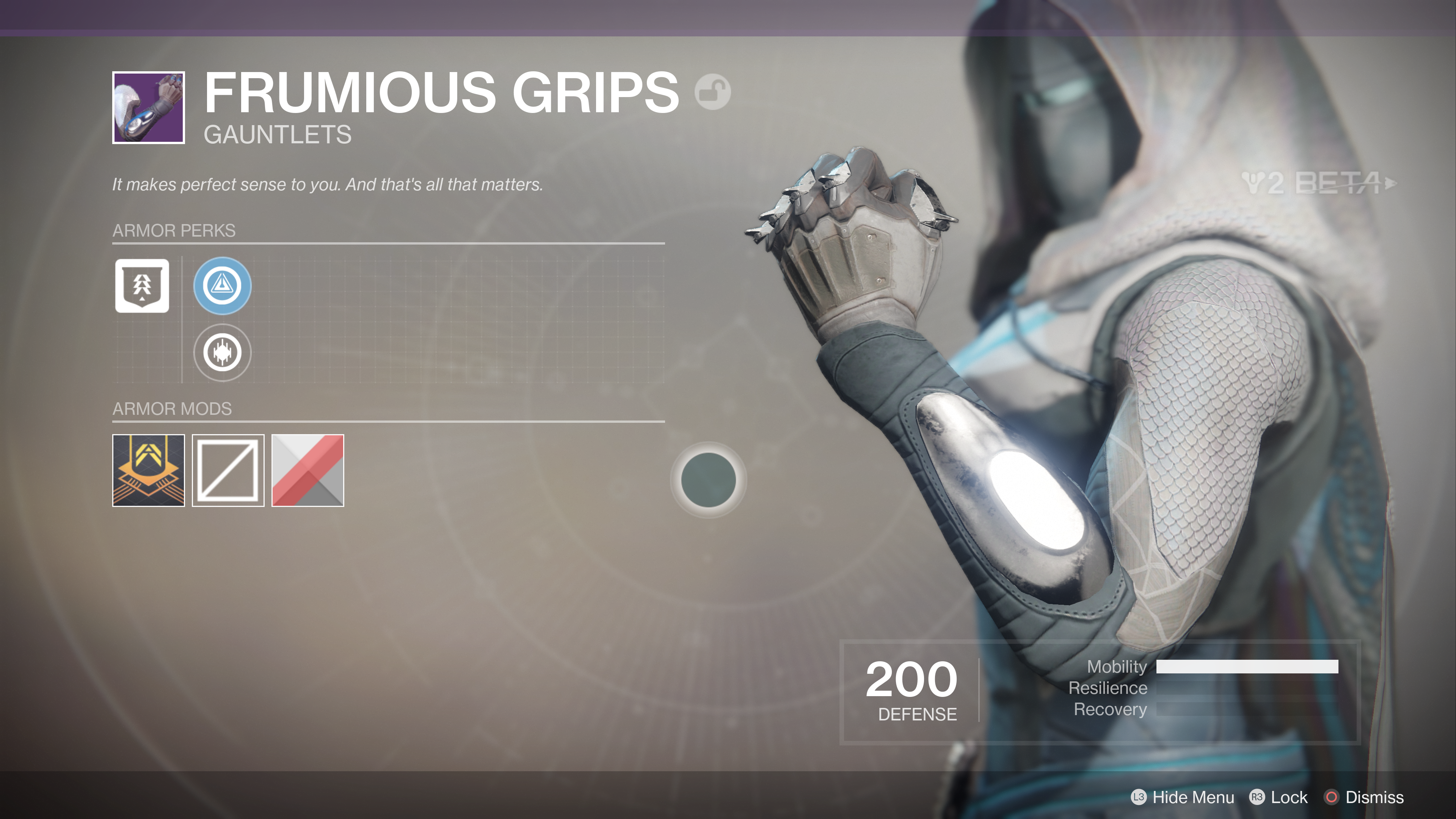 destiny 2 beta frumious grips