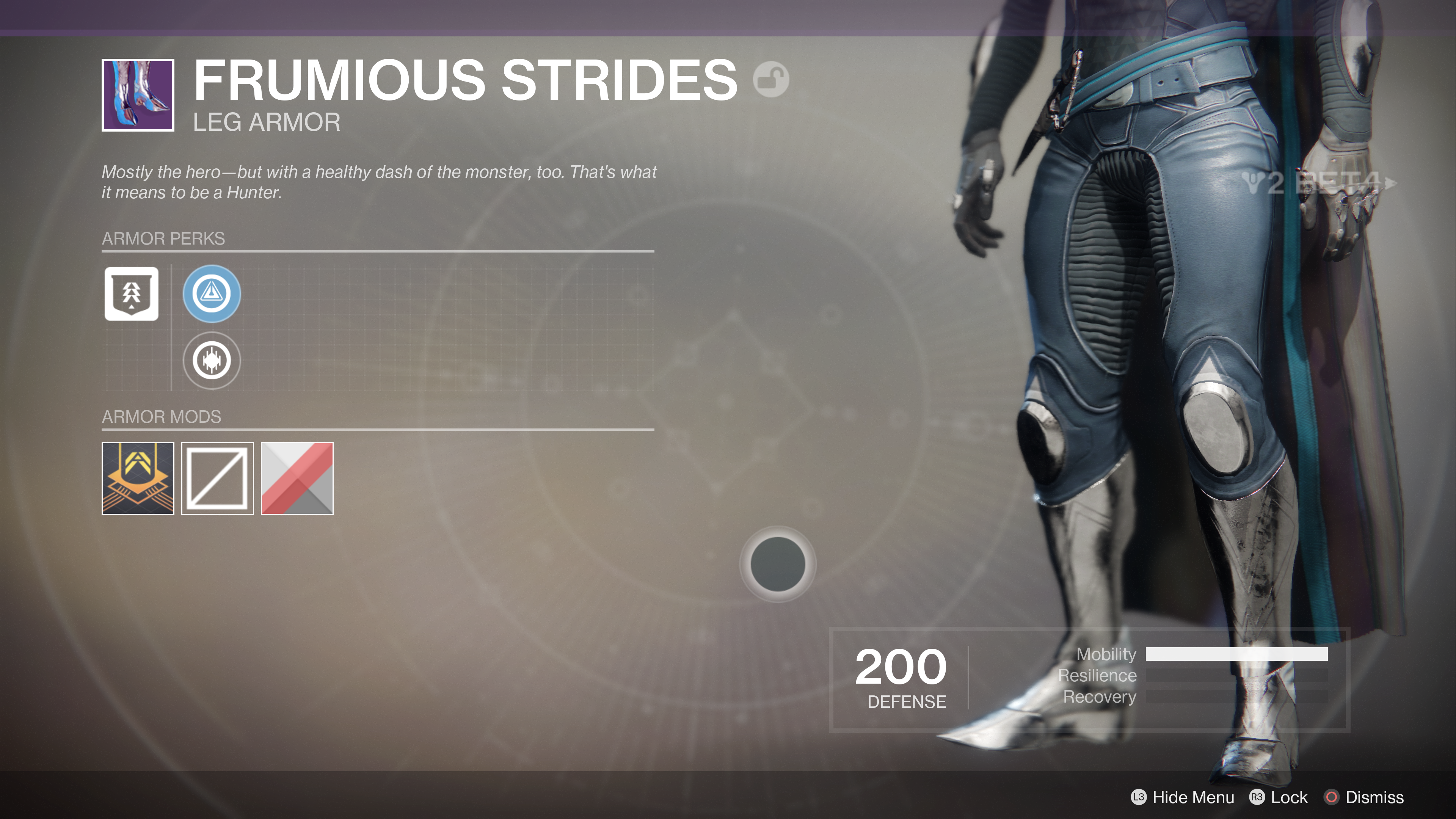destiny 2 beta frumious strides