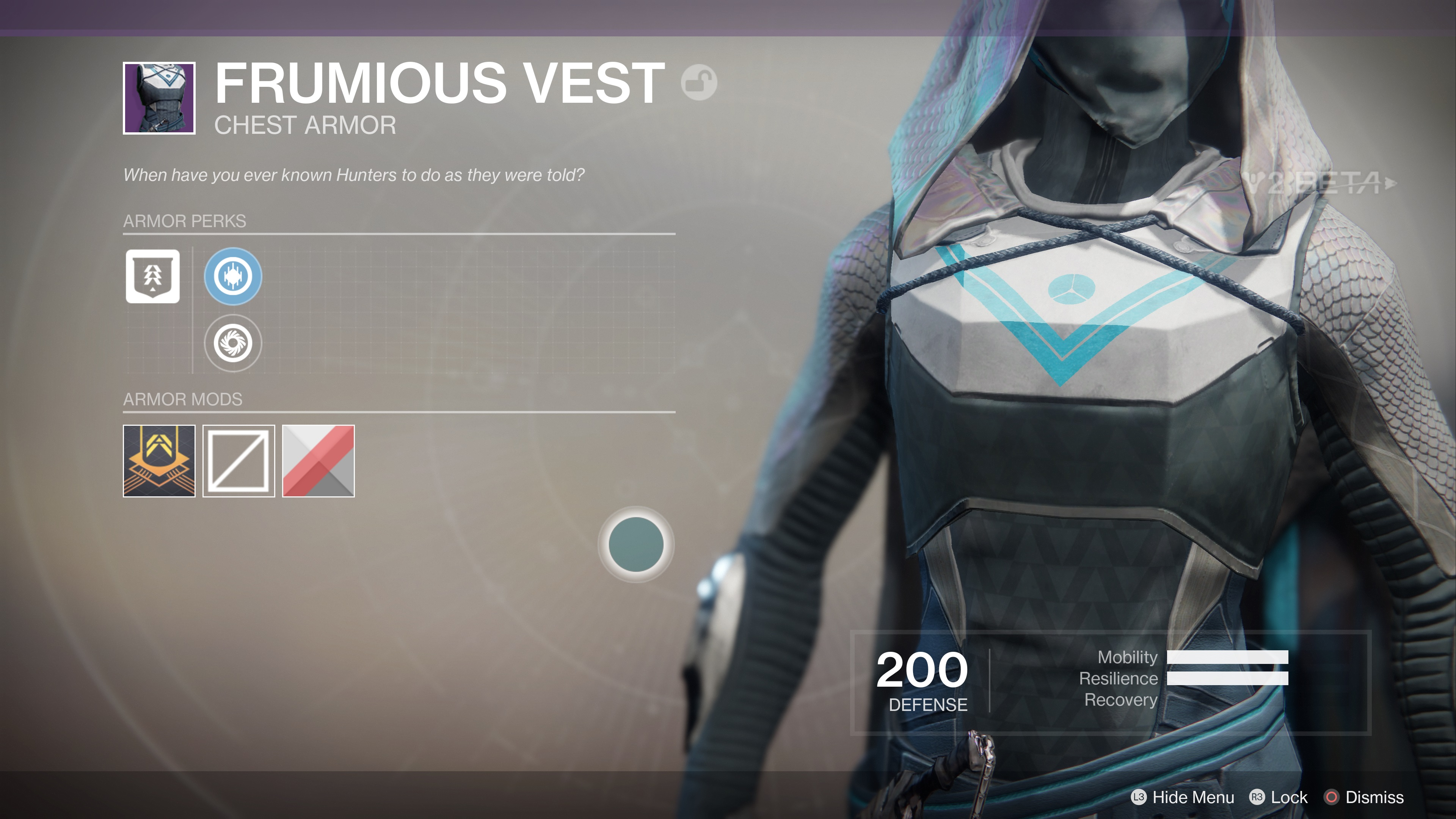 destiny 2 beta frumious vest