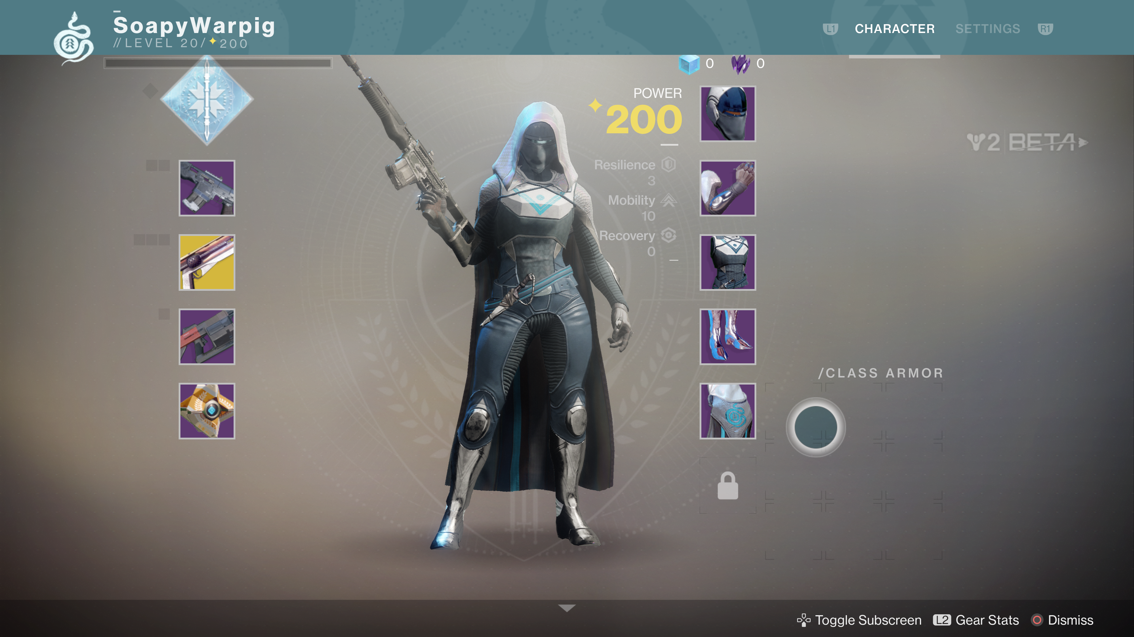 destiny 2 beta hunter