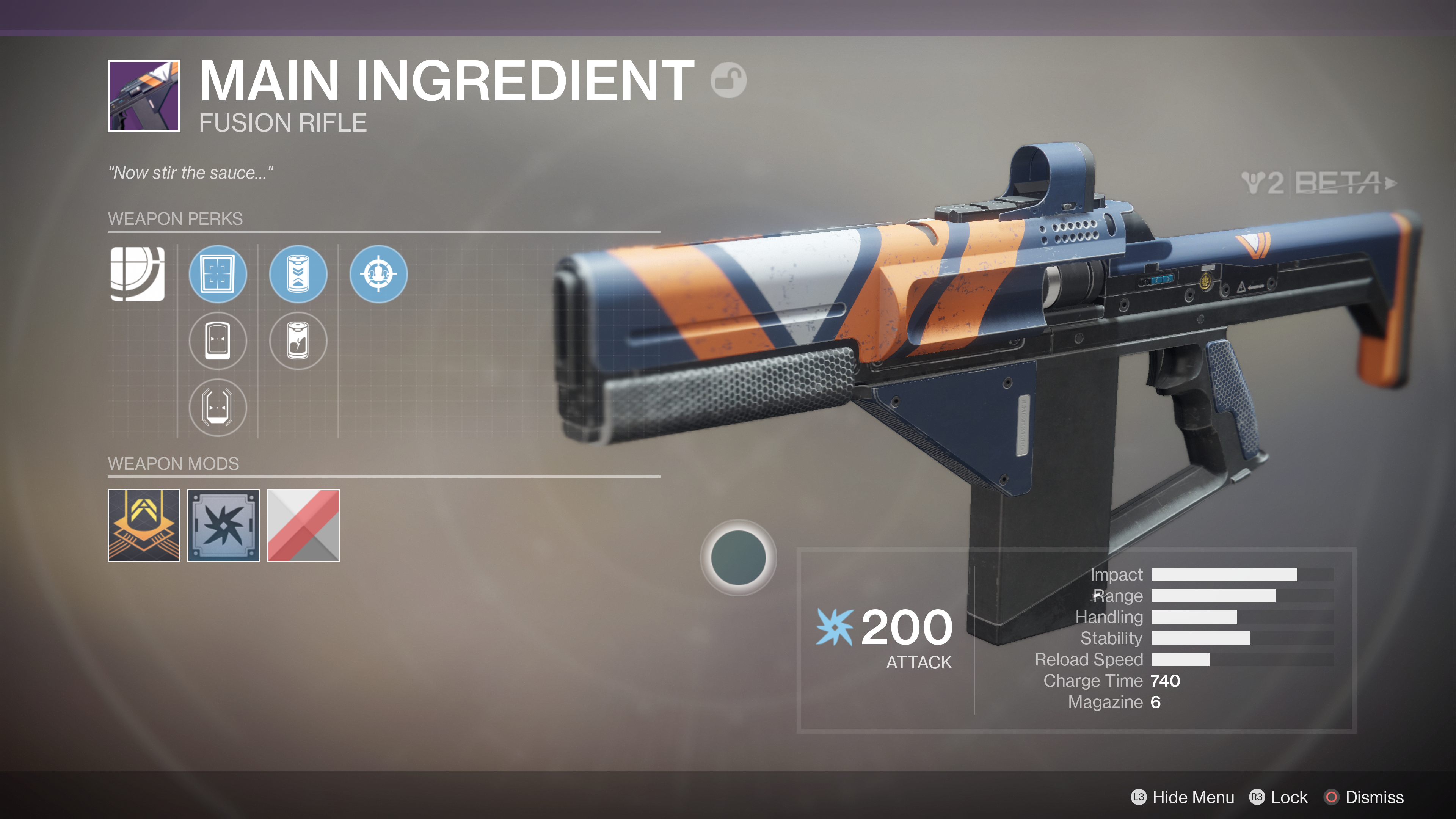 destiny 2 beta main ingredient