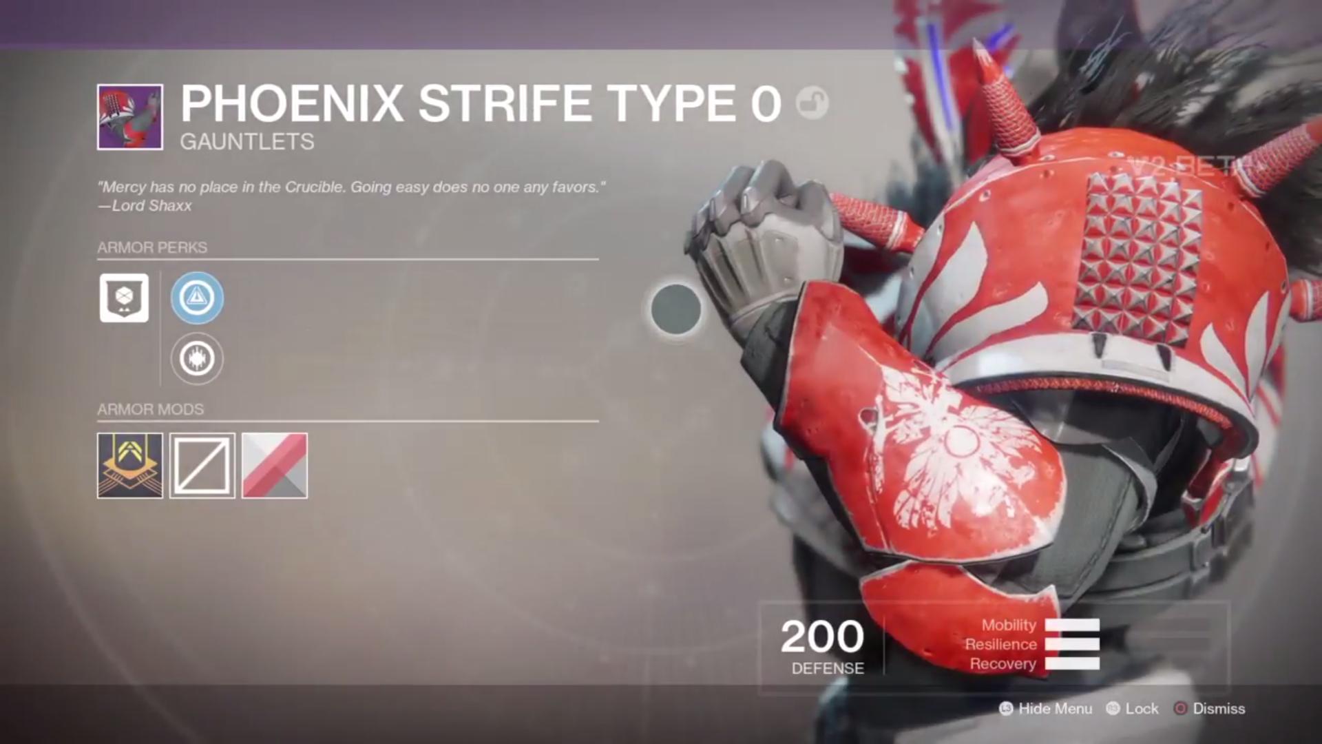 destiny 2 beta phoenix strife type 0 gauntlets