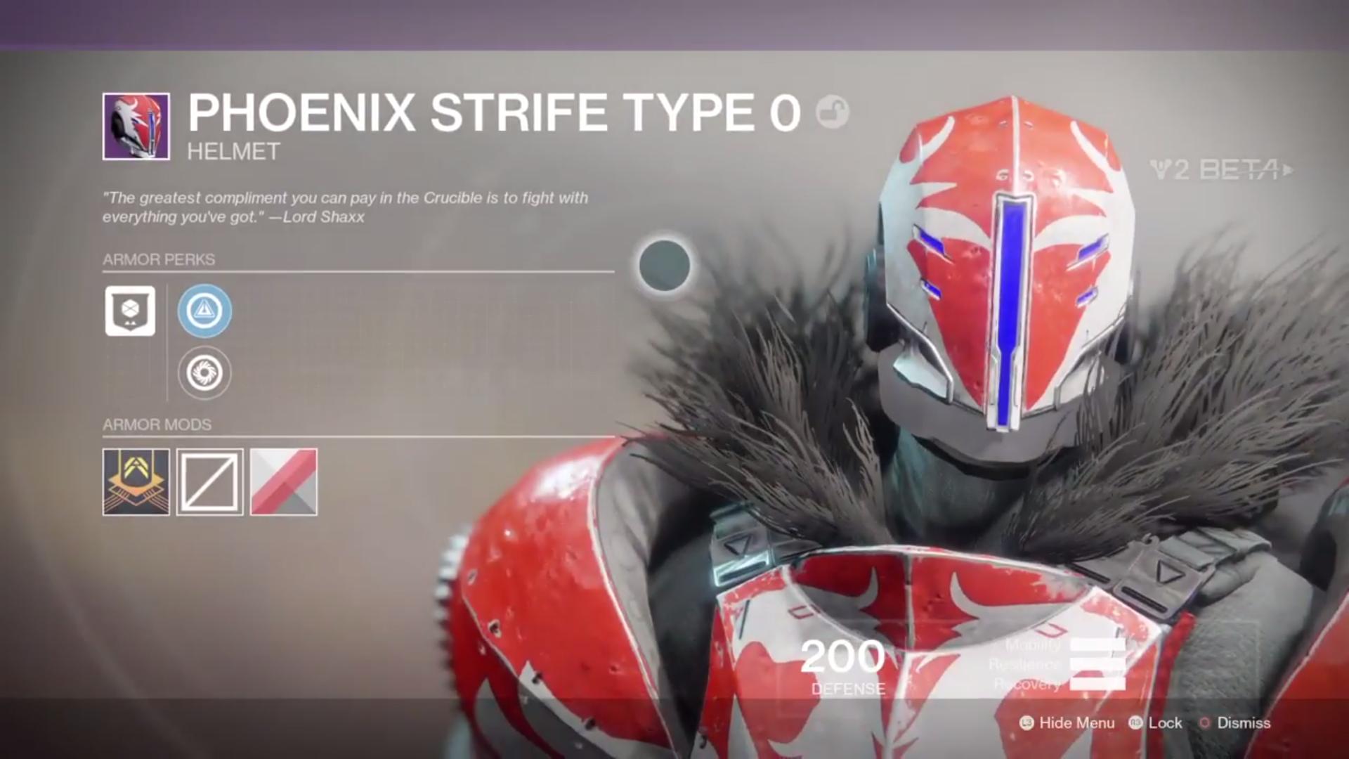 destiny 2 beta phoenix strife type 0 helmet