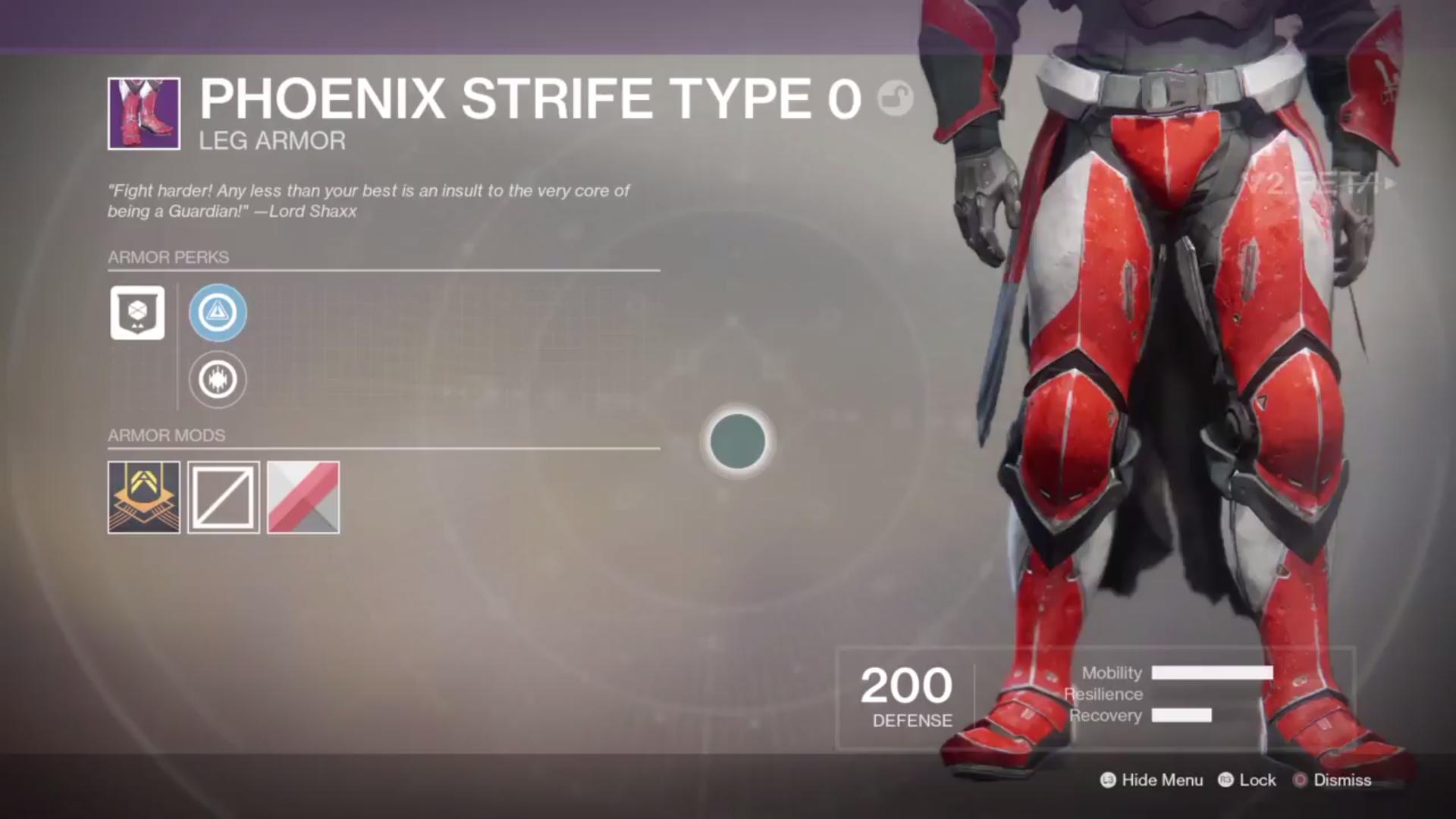 destiny 2 beta phoenix strife type 0 legs