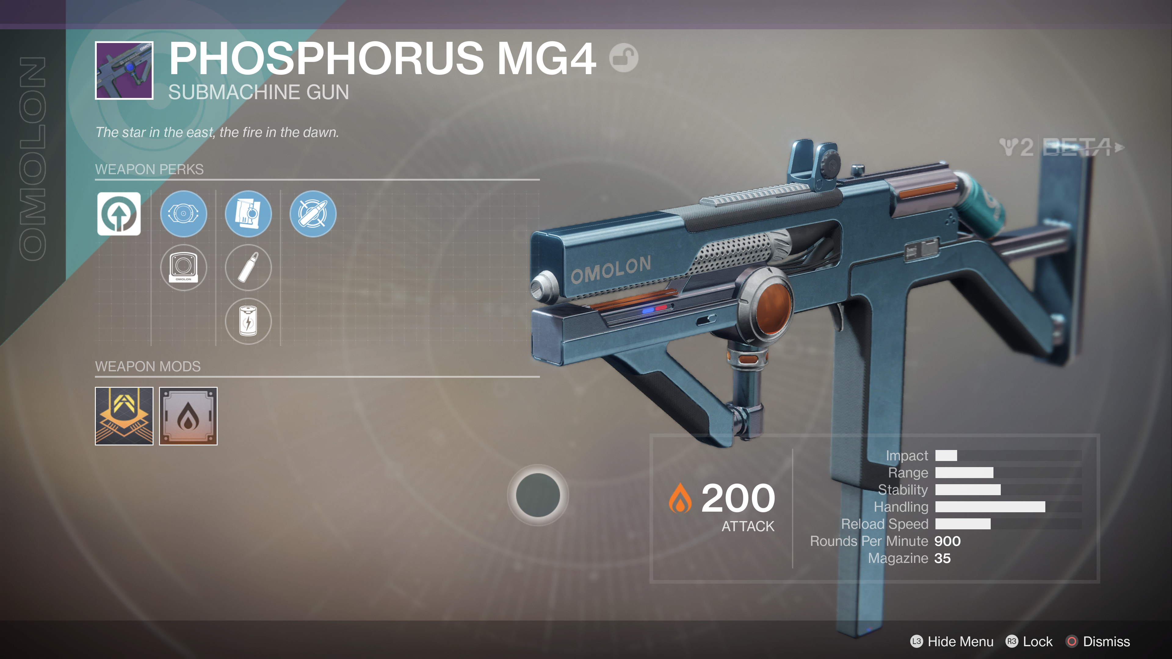 destiny 2 beta phosphorous MG4
