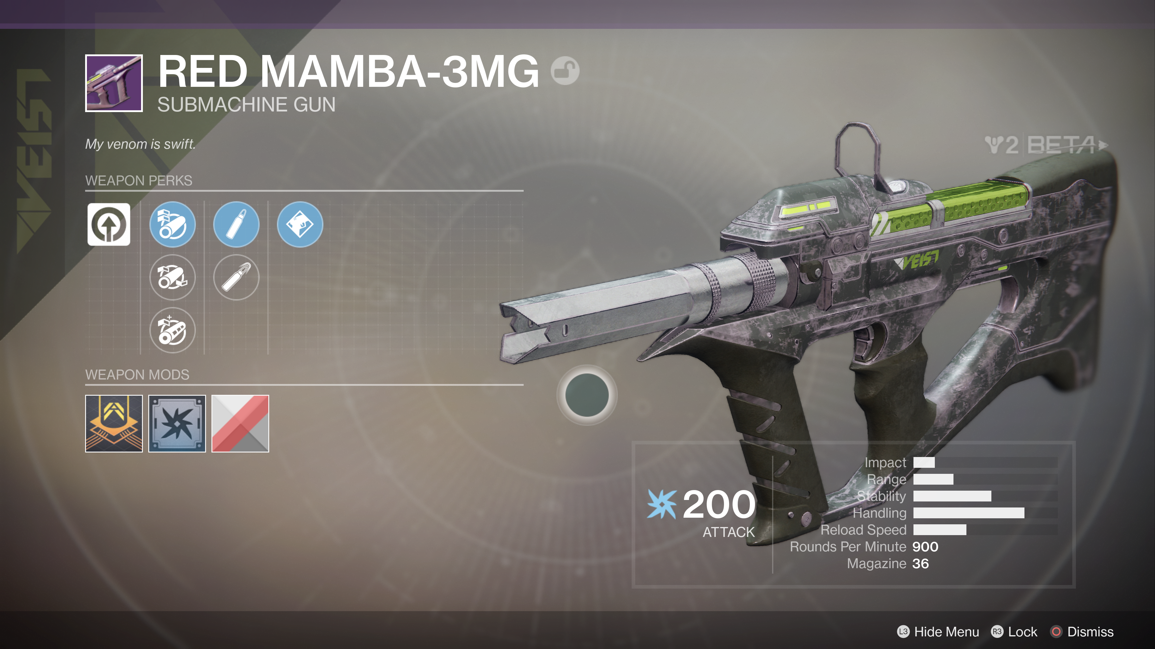 destiny 2 beta red mamba-3mg