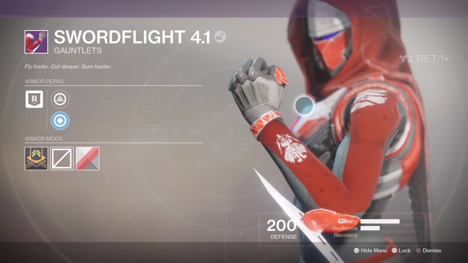 The Swordflight 41 Set And Binary Phoenix Cloak Are Drops From Crucible Intrinsic Perk Mobile Hunter Armour Is Same For Each Piece