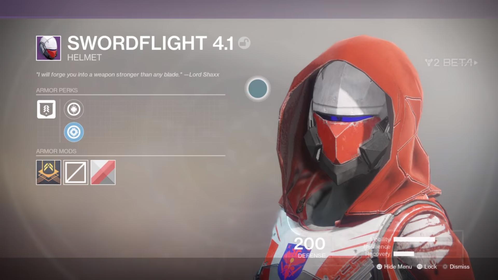 destiny 2 beta swordflight 4.1 helmet