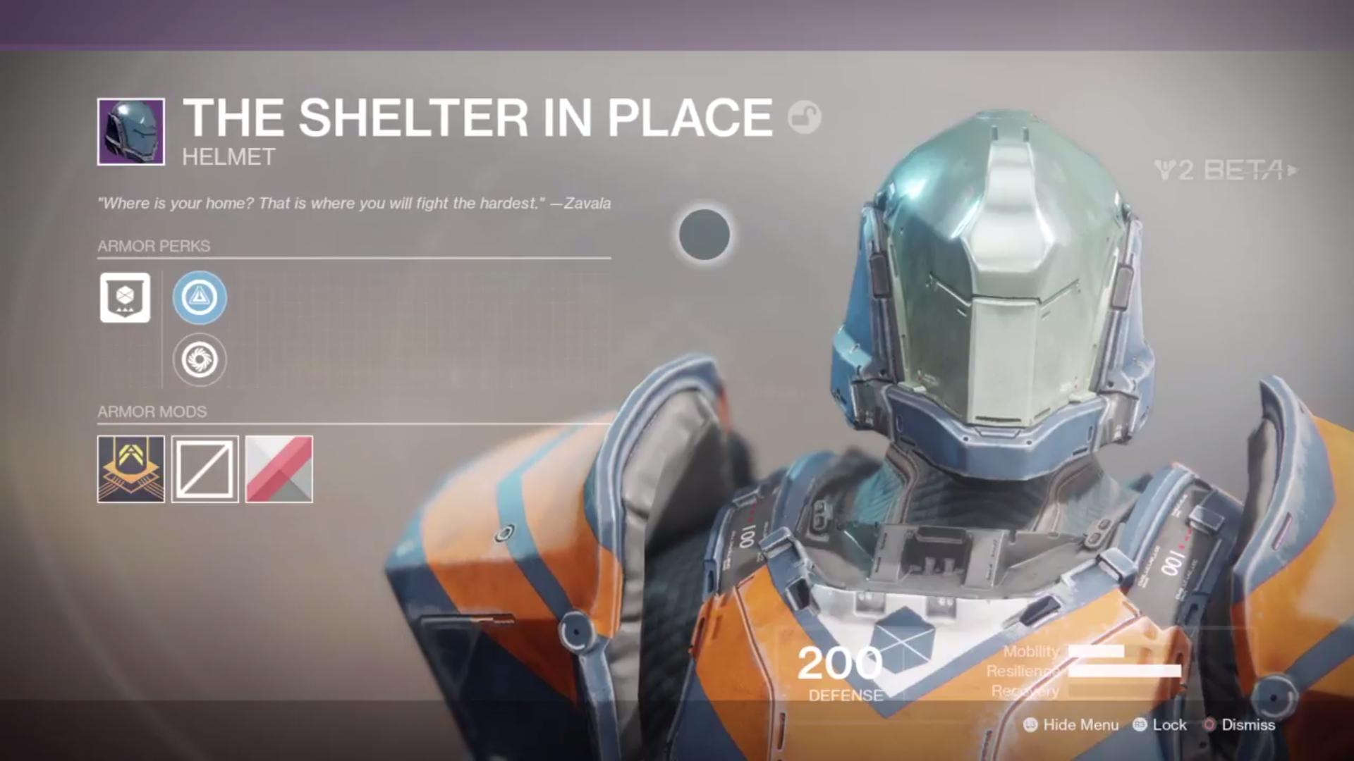 destiny 2 beta the shelter in place helmet
