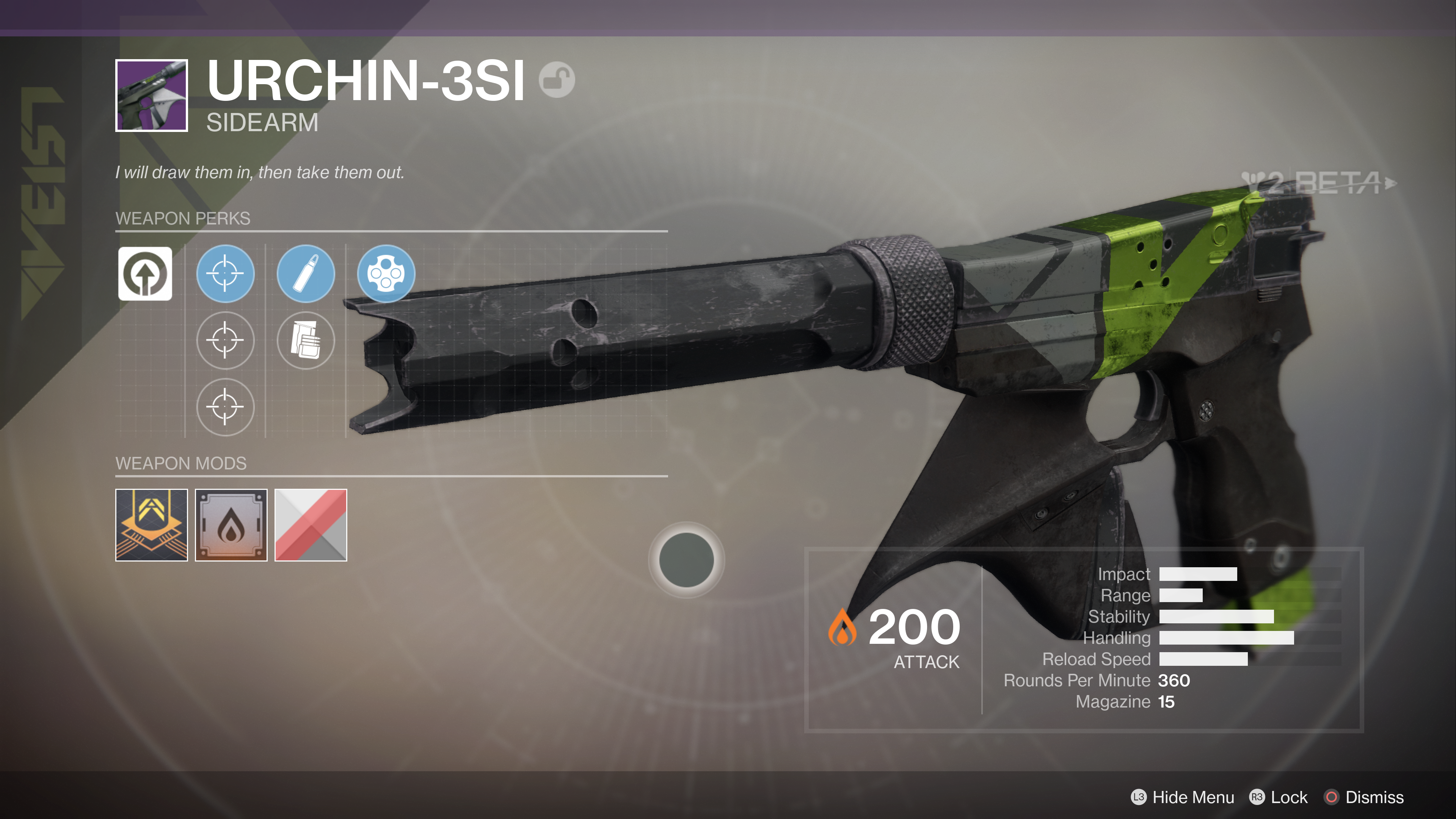 destiny 2 beta urchin-3si