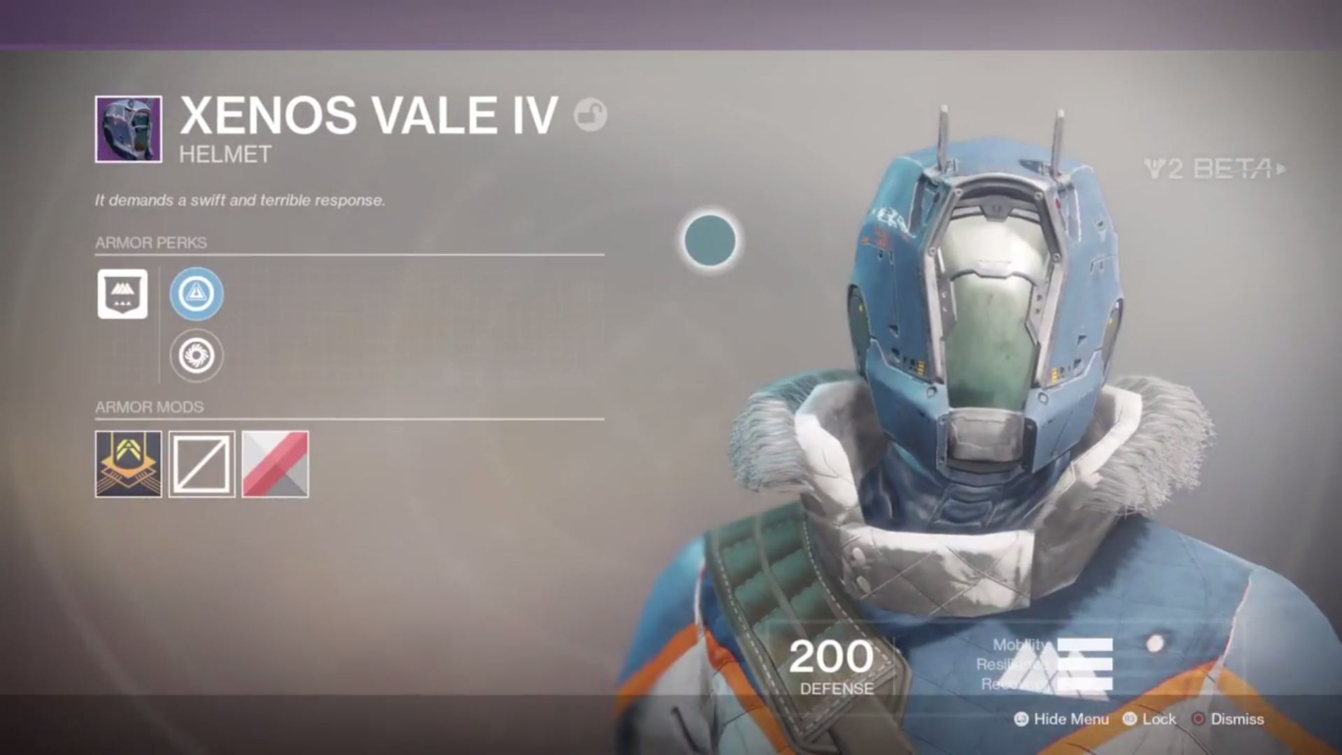 destiny 2 beta xenos vale IV helmet