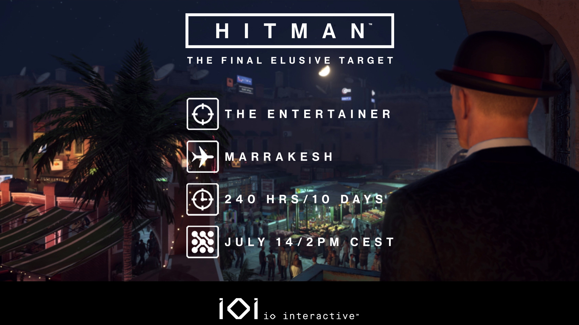 The last elusive target of Hitman's first season goes live tomorrow