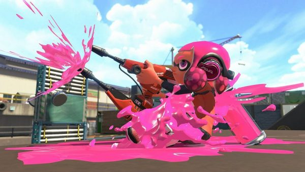 Splatoon 2 ink shooting screenshot