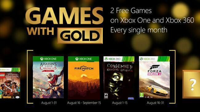 Xbox's Games with Gold for August 2017 Revealed