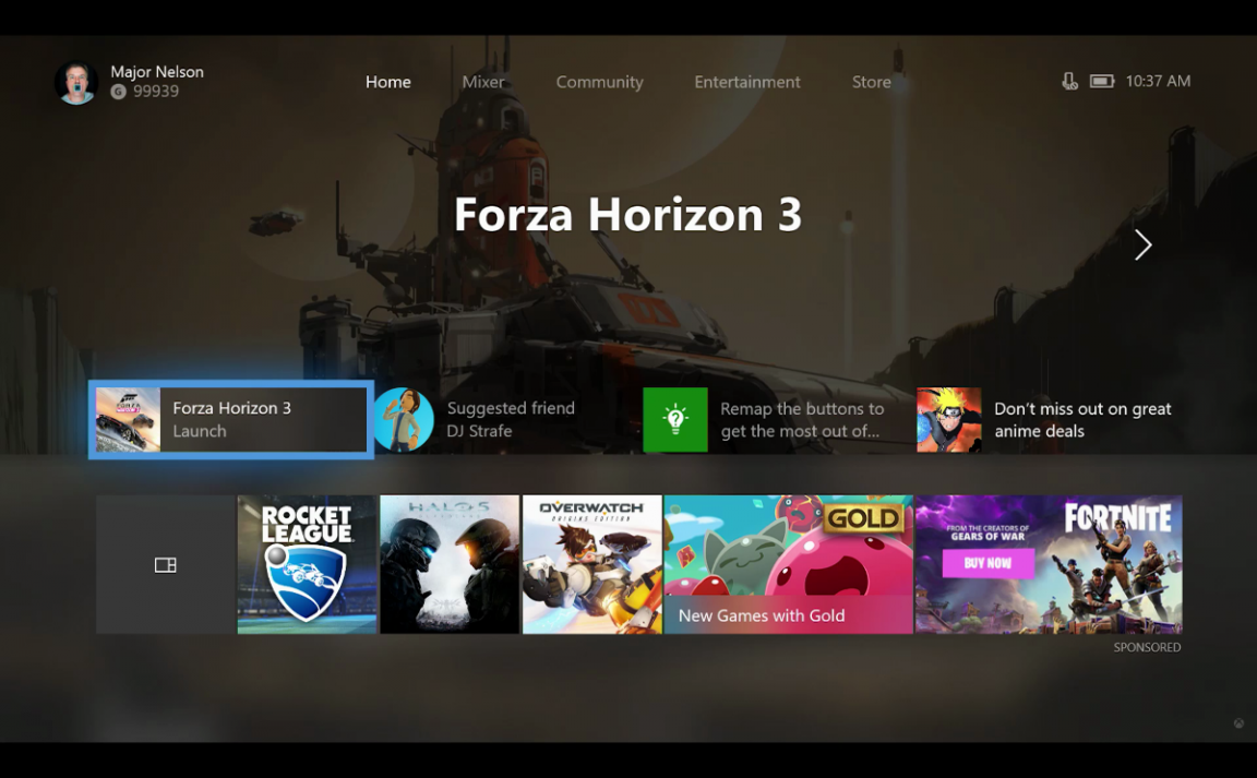 Microsoft promises a better and responsive streamlined dashboard for Xbox One X