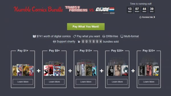 Humble Comics Bundle Transformers vs GI Joe