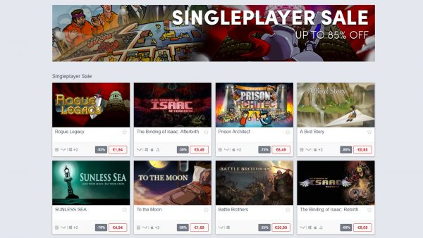 Humble Store Single Player Sale