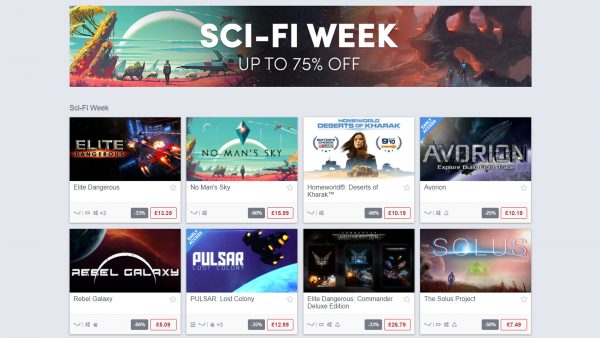 Sci Fi Week Humble Store