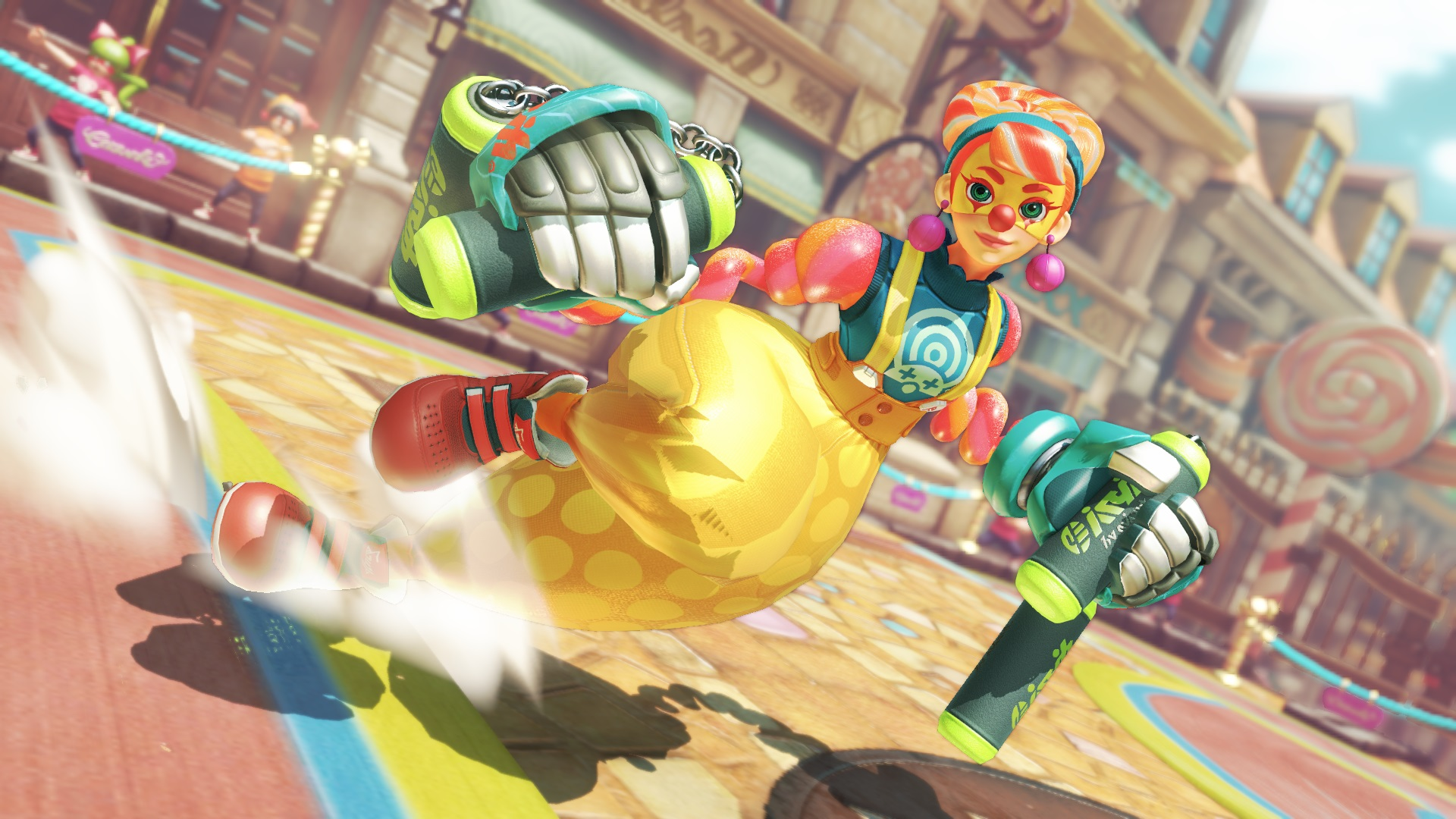 Lola Pop Inflates Her Body To Brawl In ARMS