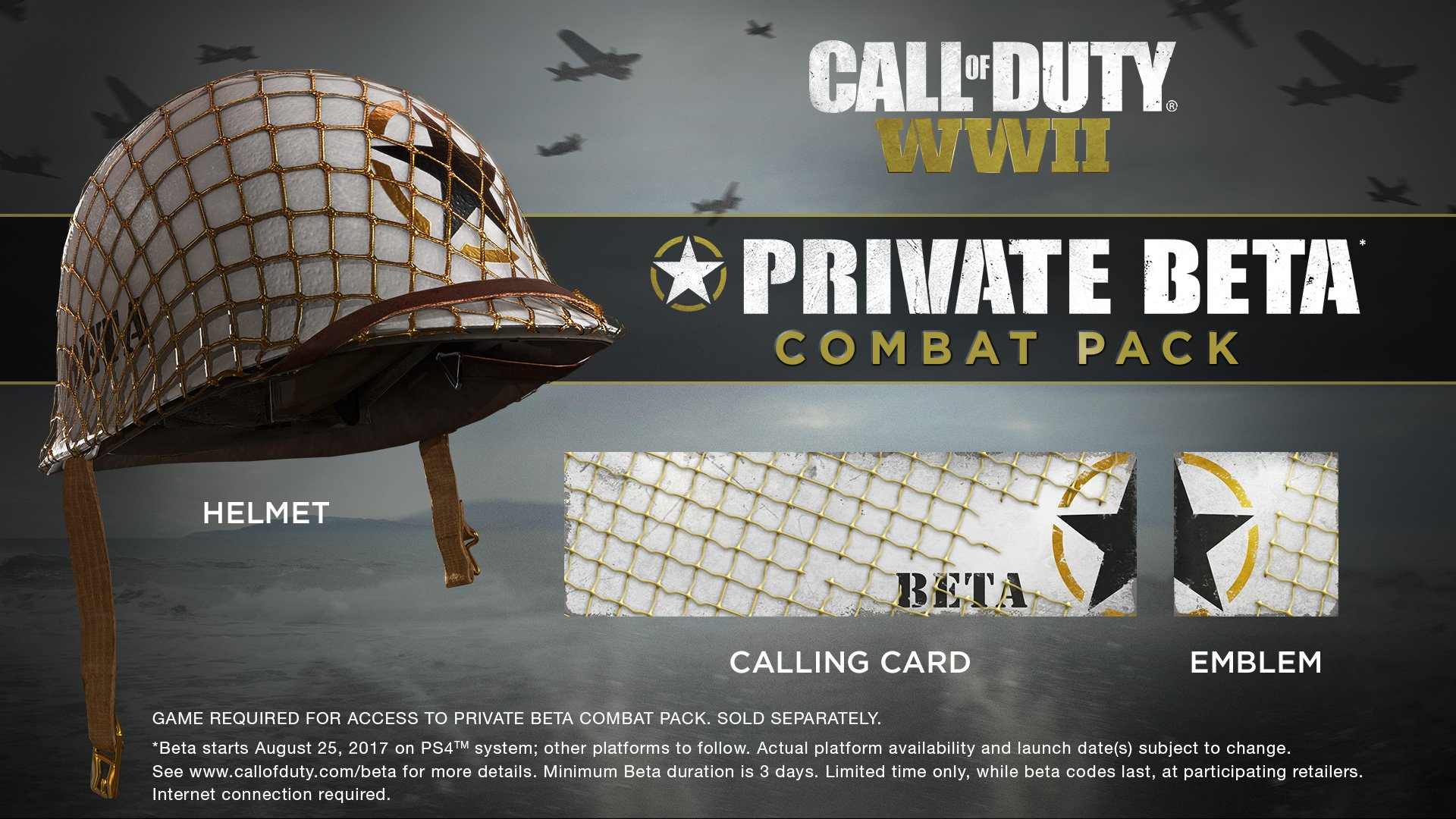 Custom Helmet and Other Items Available to CoD: WWII Beta Participants