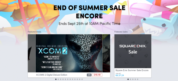 End of Summer Sale Encore