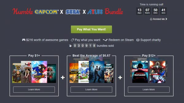 Humble Capcom x Sega x Atlas Bundle b
