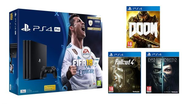 PS4 Pro FIFA 18 Doom Fallout Dishonored