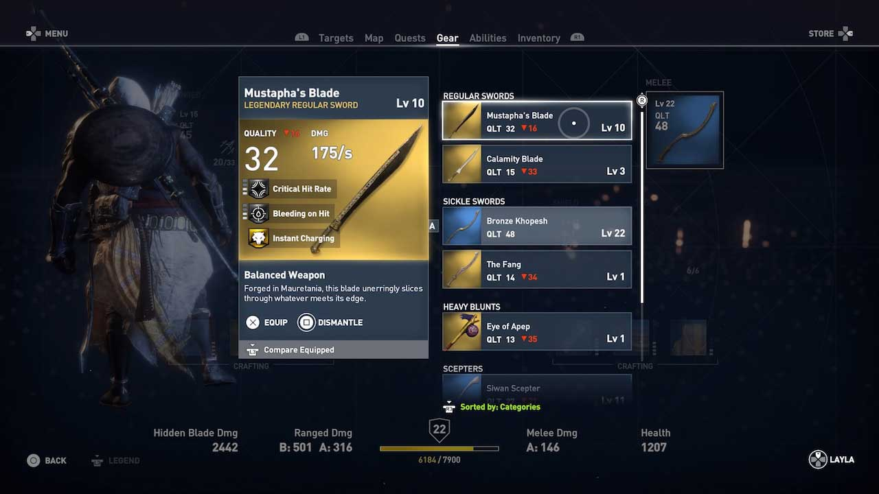 Assassin S Creed Origins Get And Upgrade The Best Weapons And Tools For The Job Vg247