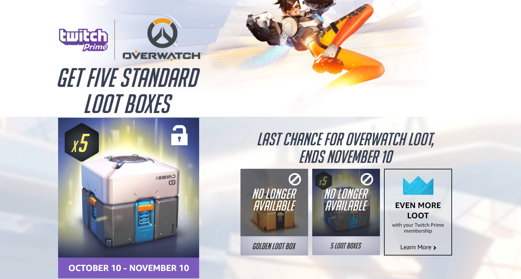 Get five bonus Overwatch loot boxes with Twitch Prime - VG247