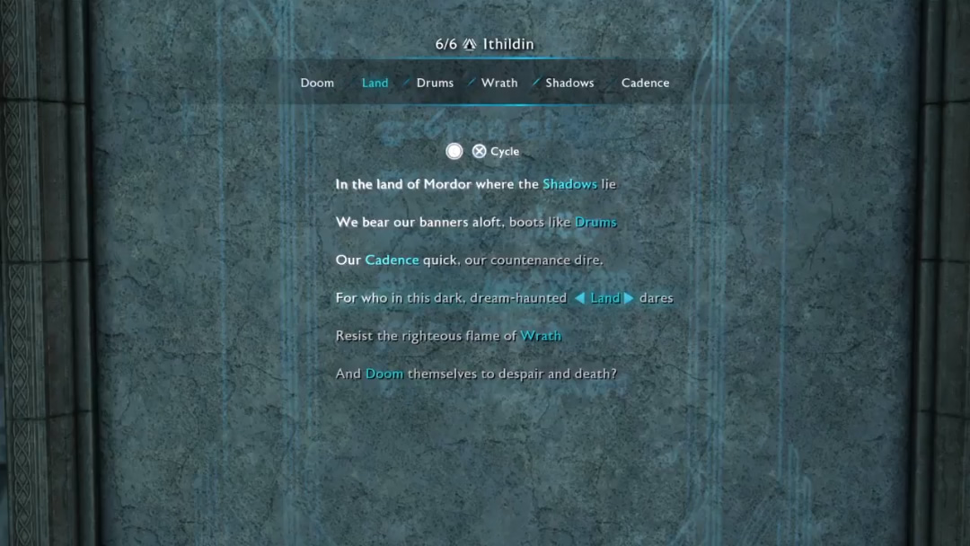 Middle Earth Shadow Of War Ithildin Poem Solutions Find Out