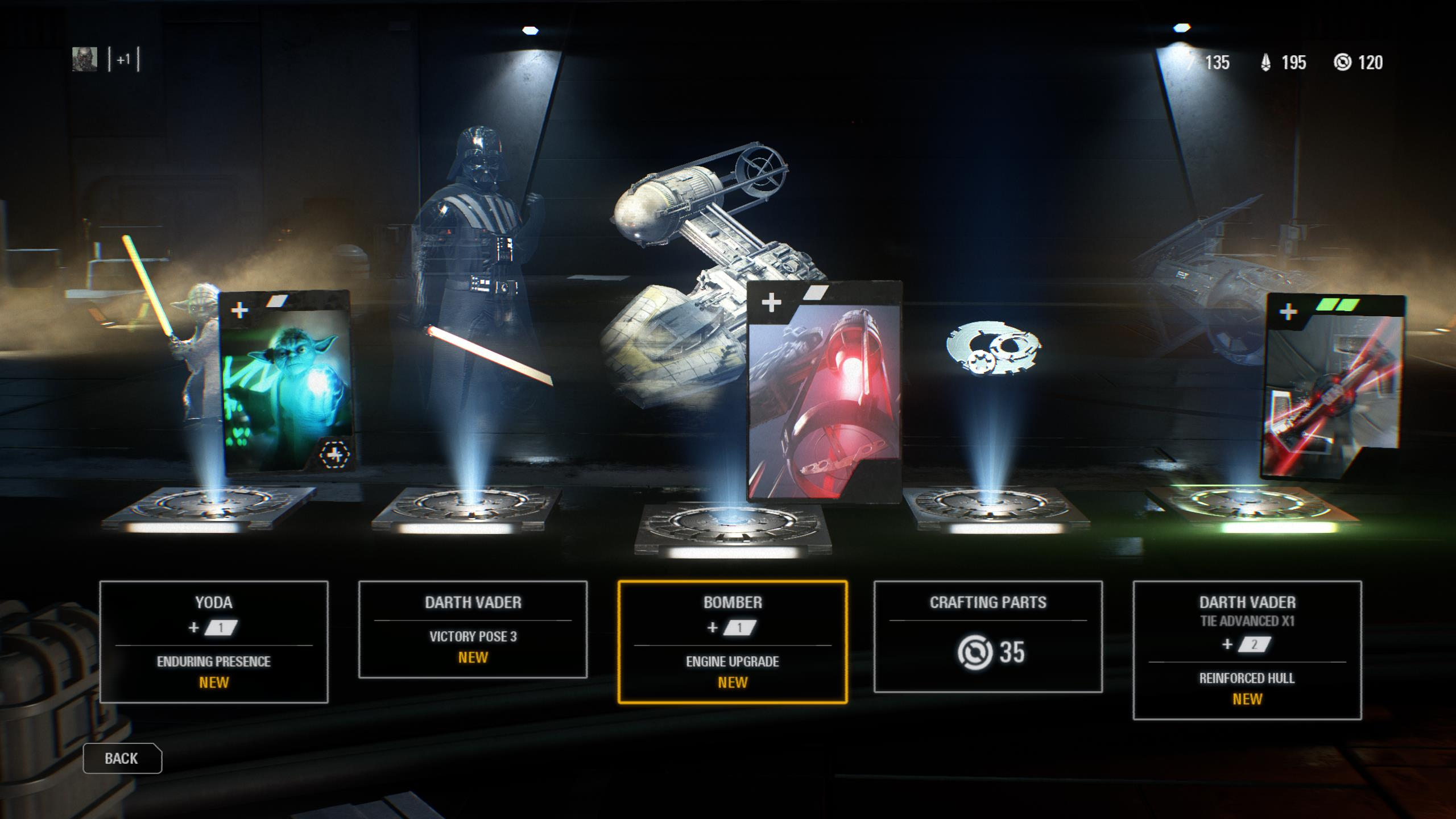 The menu system in Battlefront 2