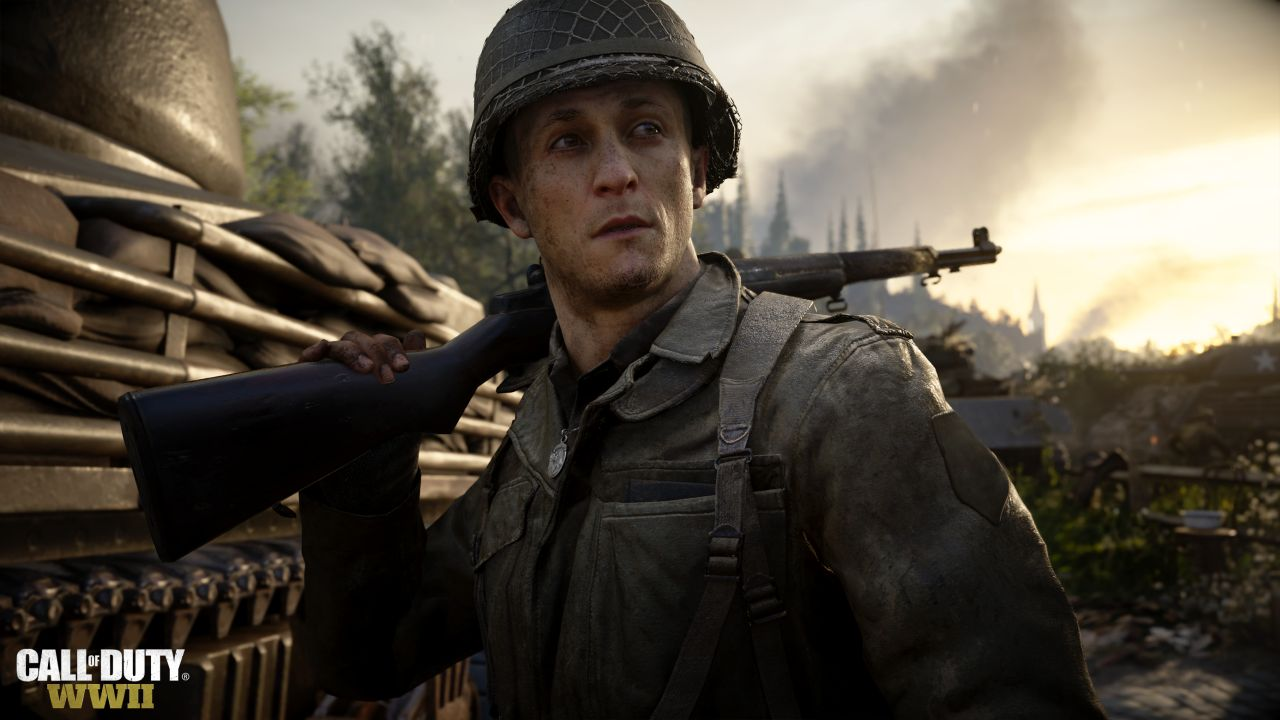 A soldier in Call of Duty: WW2