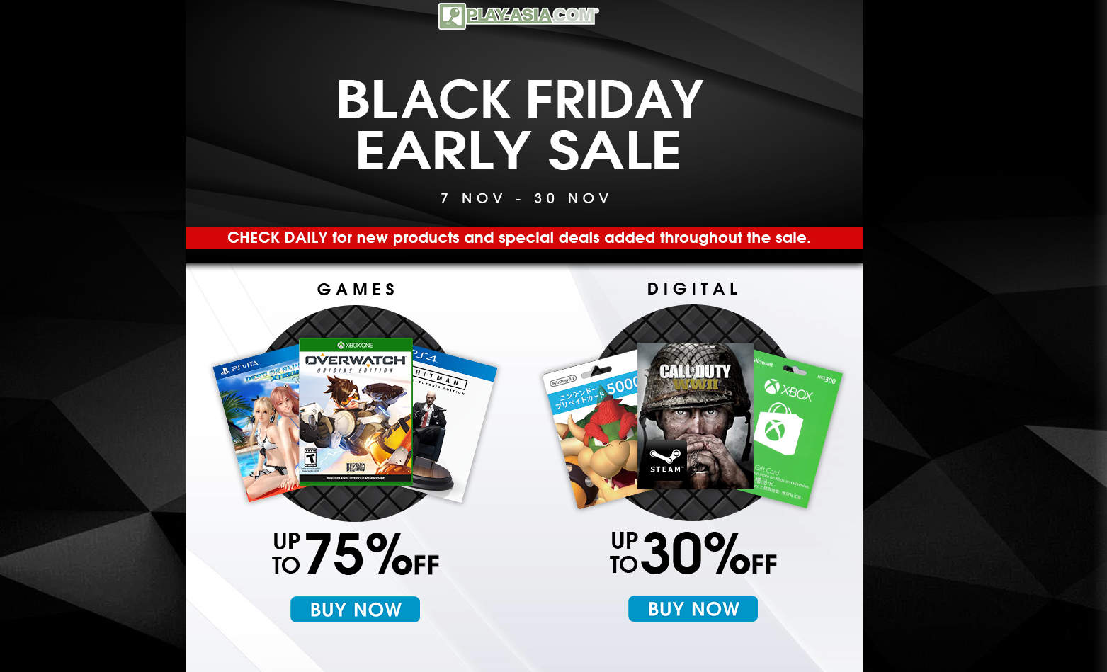 play asia has launched its black friday sale early vg247