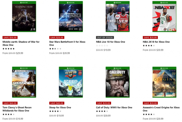 Half Price Xbox One Stuff
